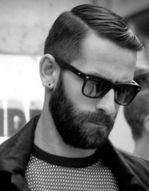 Simple Rockabilly Hairstyles For Men With Beard