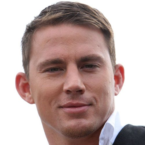 taper side part haircut channing tatum