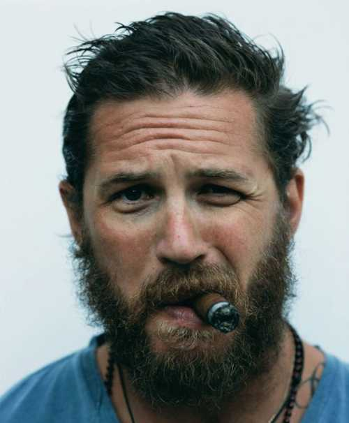 tom hardy haircut curly beard hair messy
