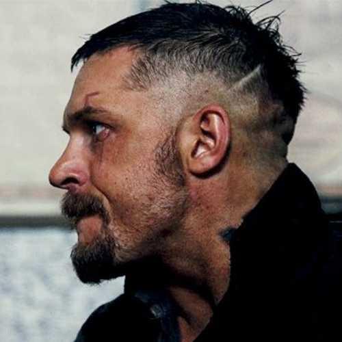 tom hardy haircut high side part fade razor cut
