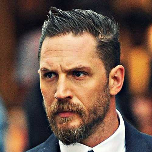 tom hardy haircut short pomp haircut tapered hair