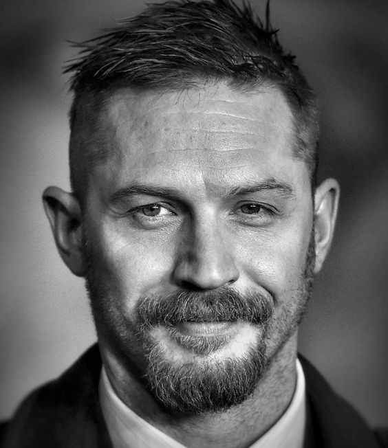tom hardy haircut side part fade short hair fade
