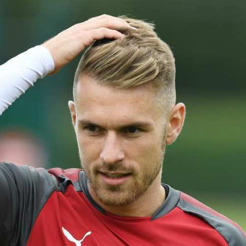 aaron ramsey blonde hair