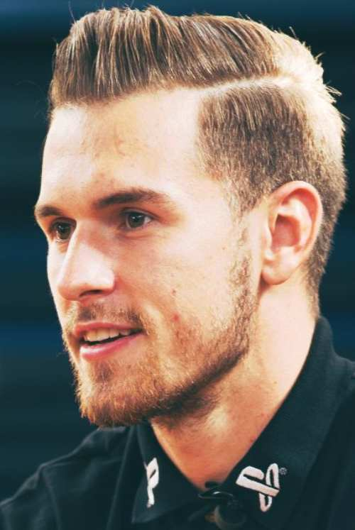 aaron ramsey hair