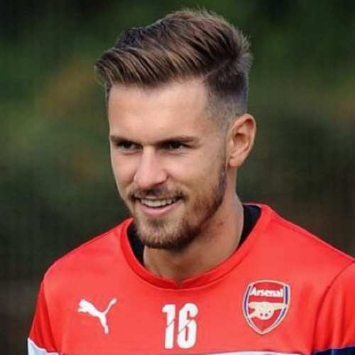 aaron ramsey side part haircut