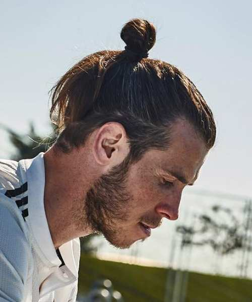 gareth bale latest hairstyles man bun