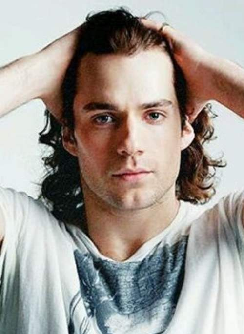henry cavill long hair
