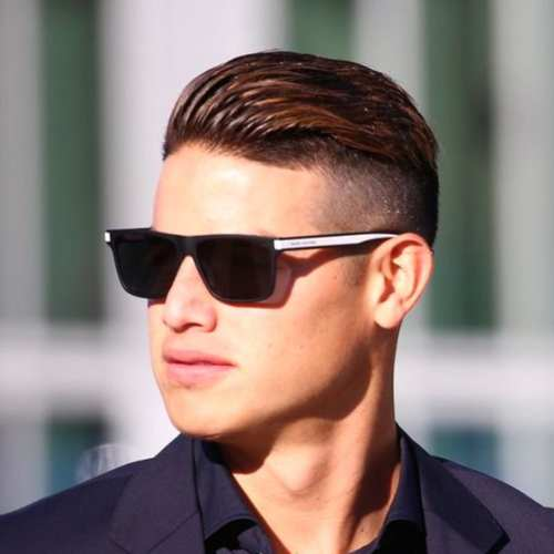 james rodriguez slicked back undercut haircut