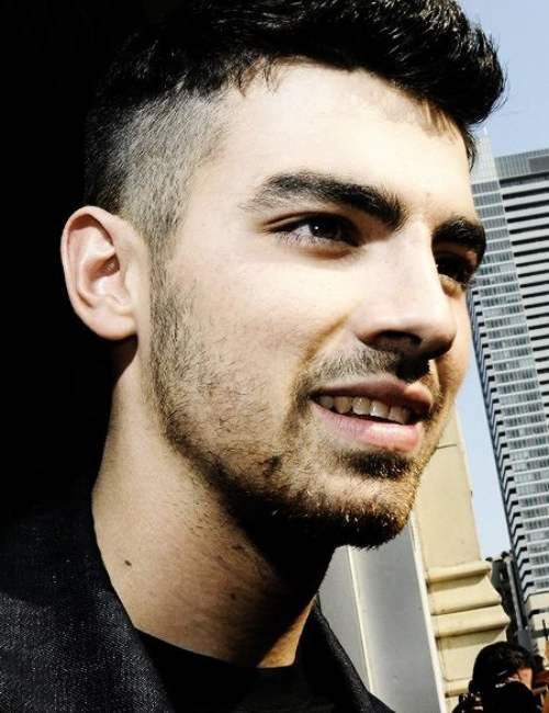 joe jonas side high fade haircut