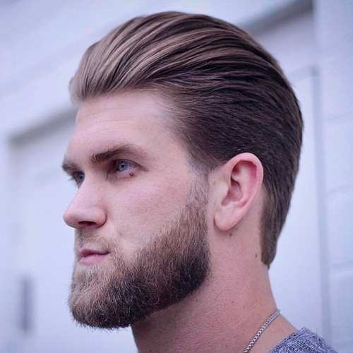 latest bryce harper slick hairstyle