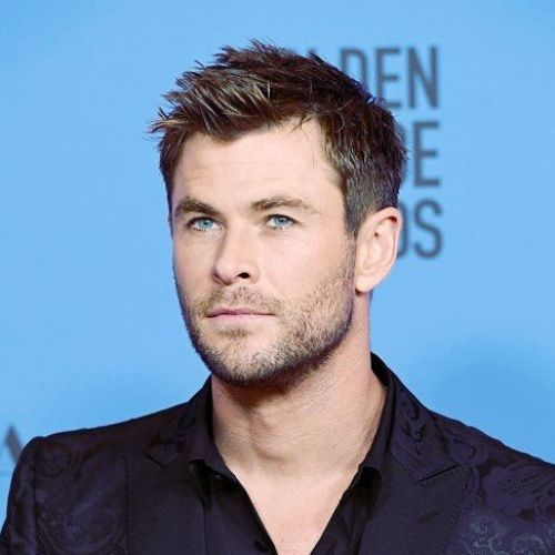 1 chris hemsworth haircut Spiky short haircut with highlighted shades