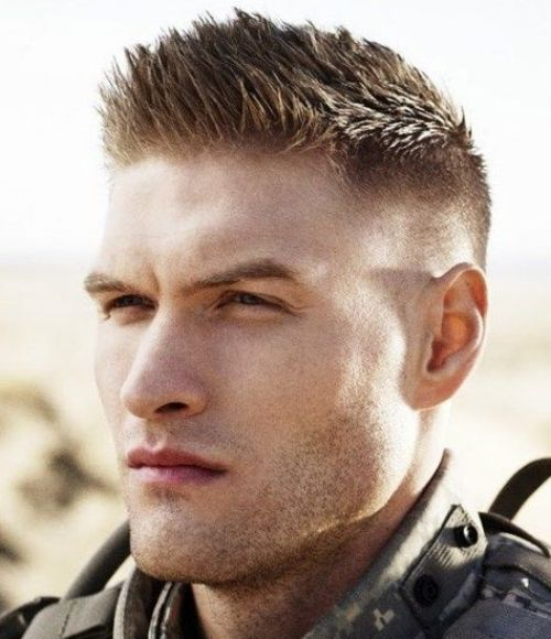 1 military style haircut spiky side part fade hairstyle
