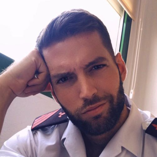 10 military haircut high and tight with beard style