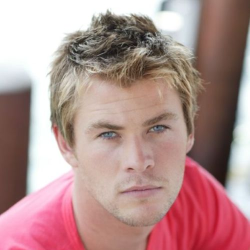 11 young chris hemsworth haircut with messy spikes