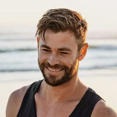12 chris hemsworth medium length wet hairstyles for men