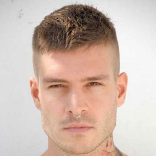 14 military haircut messy spiky short buzz cut hairstyle