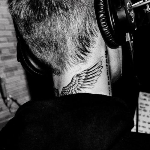 24 justin bieber hairstyle back with tattoos