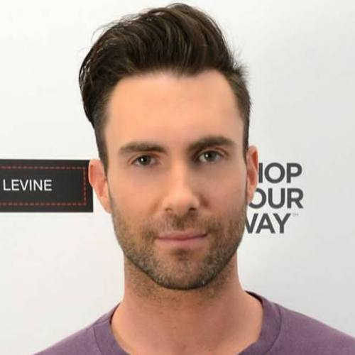 4 adam levine haircut name one side pompadour