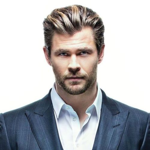 6 chris hemsworth long slicked back hairstyles thor haircut name