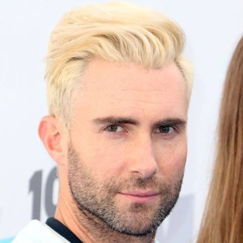 8 adam levine comb over haircut blonde hairstyle