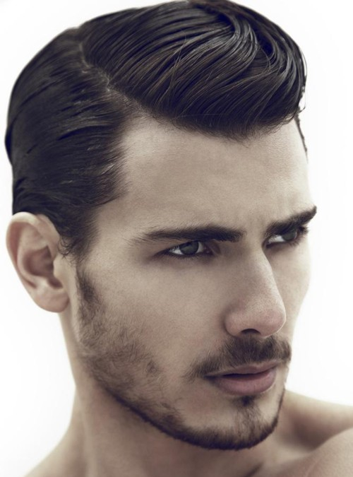80s hairstyle high textured men's wavy hairstyle