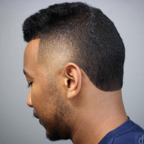 Low Skin Fade Haircut round line up