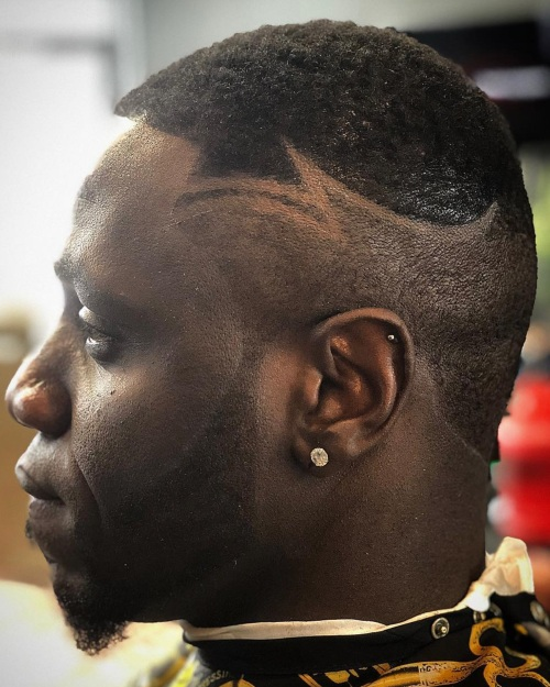 burst fade razor designs line up hairstyle