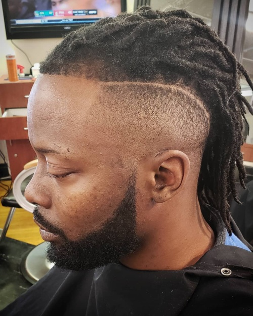 dreadlock line up high fade haircut