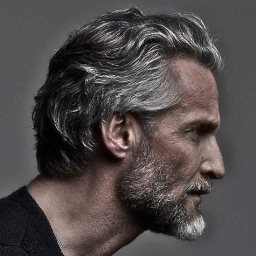 grey men wavy hairstyle new