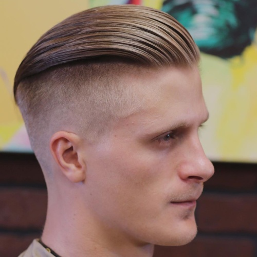 high textured slicked back undercut hairstyle