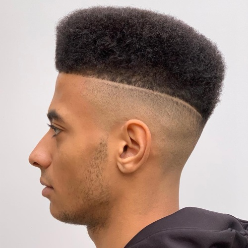 high top fade hard razor line up haircut