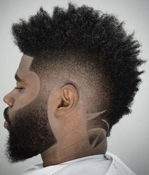 line up haircut mohwak fade hair designed