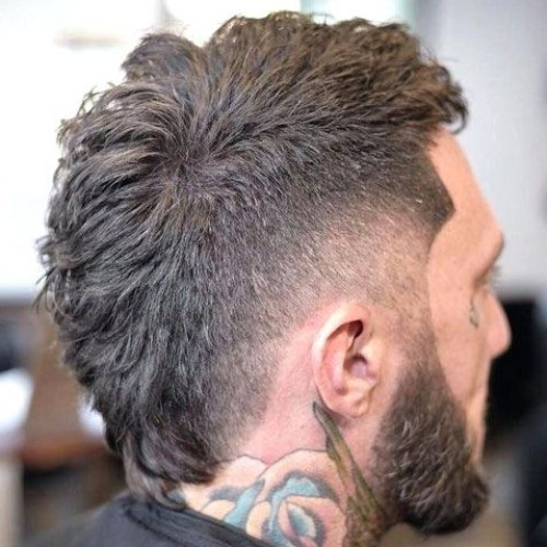 low mohawk fade with burst fade hair design