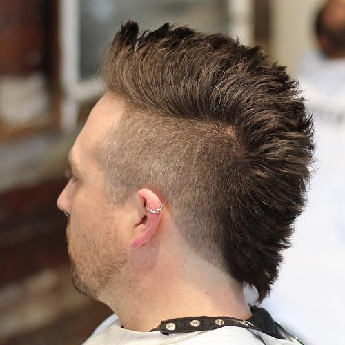 medium length mohawk fade hairstyle