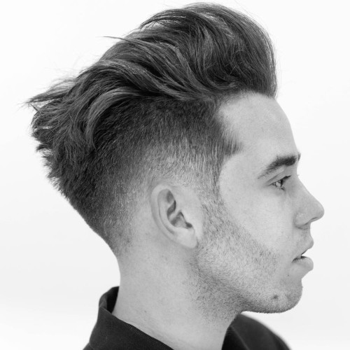 pompadour hairstyle comb fade burst fade taper hairstyle