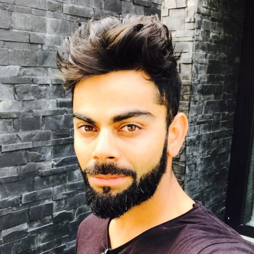 virat kohli beard style with mustache