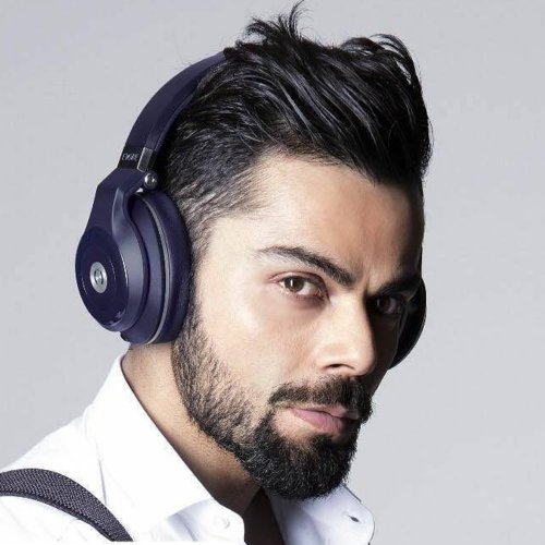 virat kohli long hairstyle side part fade haircut