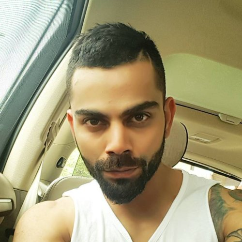 virat kohli short buzz cut with beard style