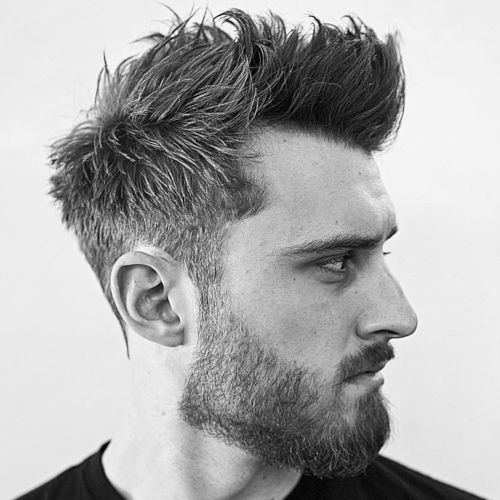 messy hairstyle mens latest 2019 picture with cool beard style messy hairstyles